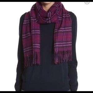 NWOT Authentic Burberry Purple Cashmere Plaid